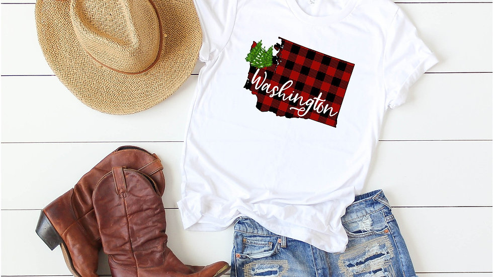 Washington Buffalo Plaid Tee