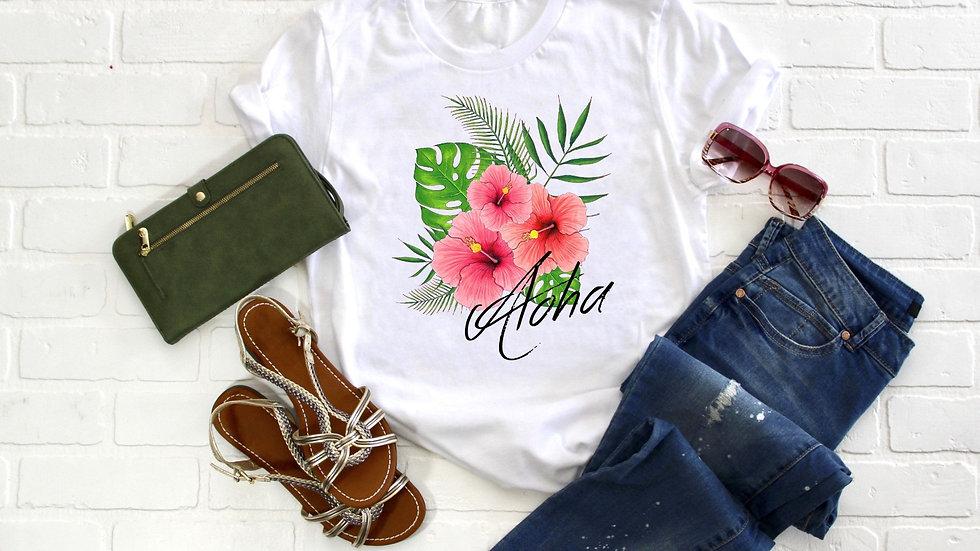 Aloha Hibiscus Tee