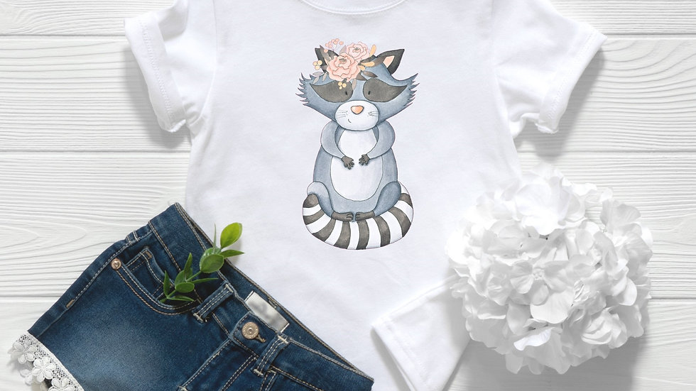 Woodland Baby Raccoon Toddler and Youth Tee