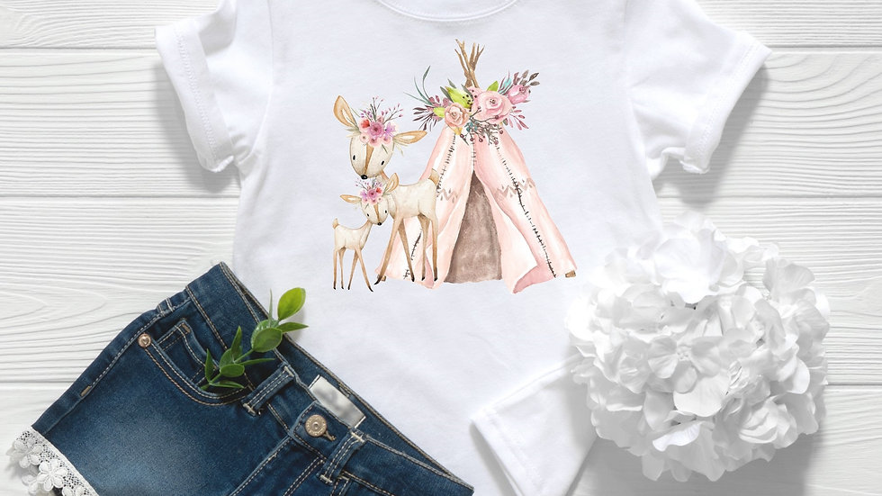 Woodland Deer Toddler and Youth Tee