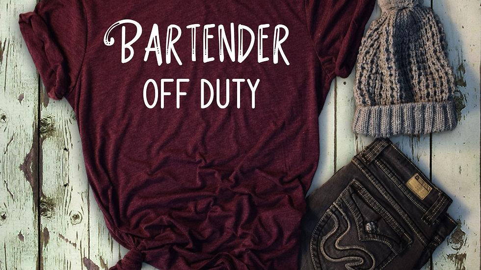 Bartender Off Duty Tee