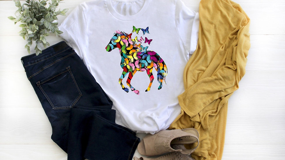 Butterfly Horse Tee
