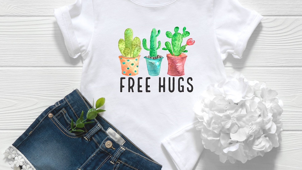 Free Hugs Cactus Toddler and Youth Tee
