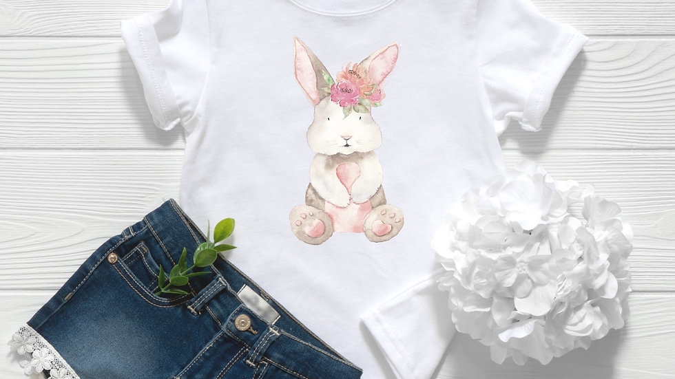 Woodland Baby Bunny Toddler and Youth Tee
