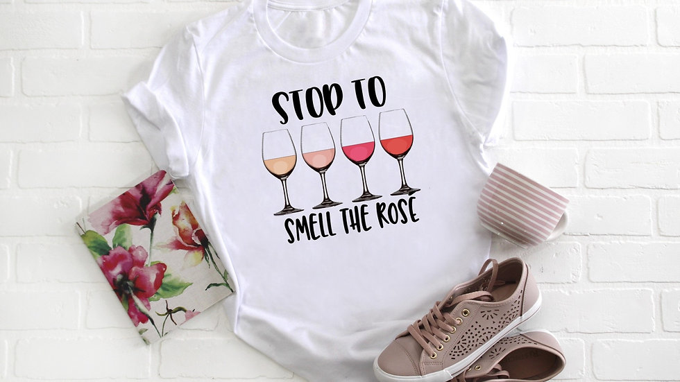 Stop to Smell the Rose Tee