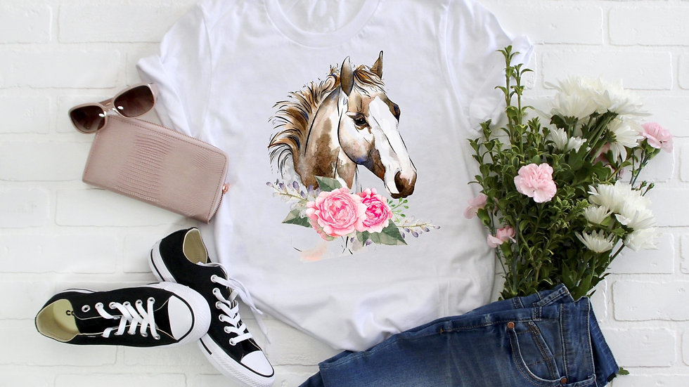 Floral Horse Tee