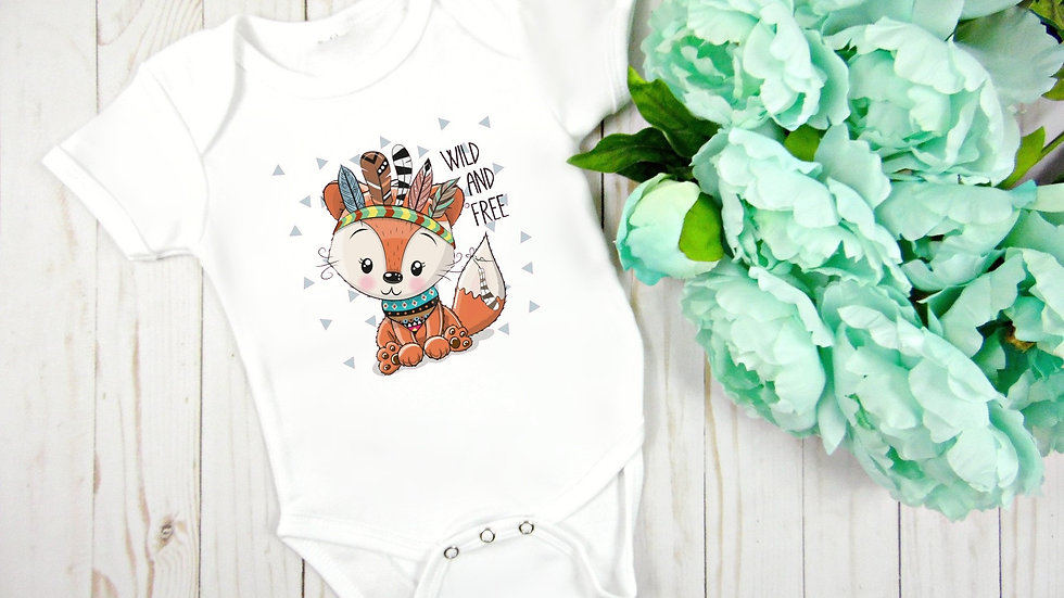 Wild and Free Woodland Fox Baby Bodysuit