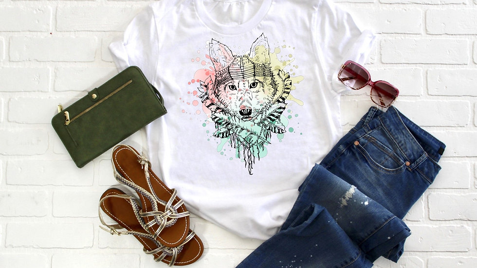 Watercolor Wolf Tee