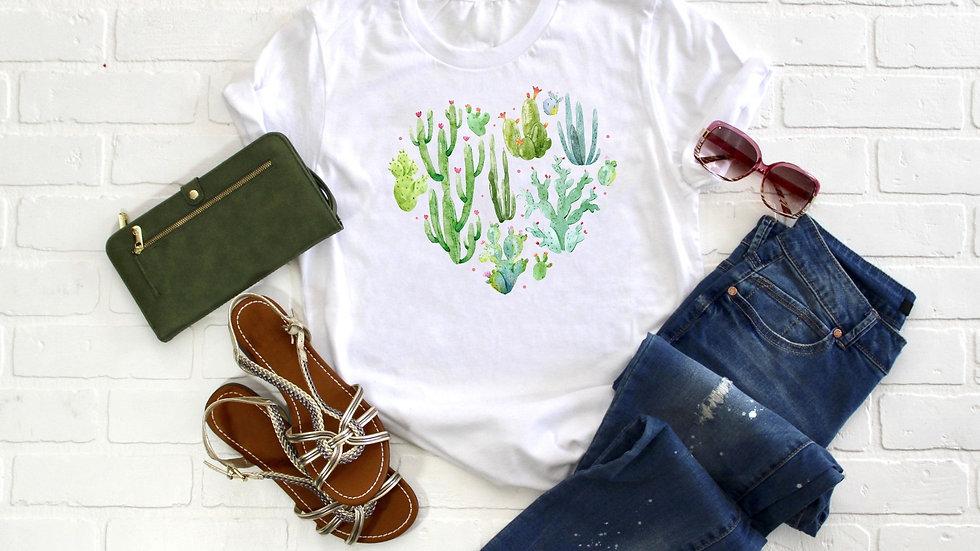 Cactus Heart Tee