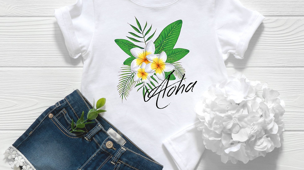 Aloha Plumeria Toddler and Youth Tee