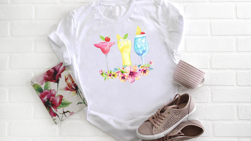 Floral Cocktails Tee