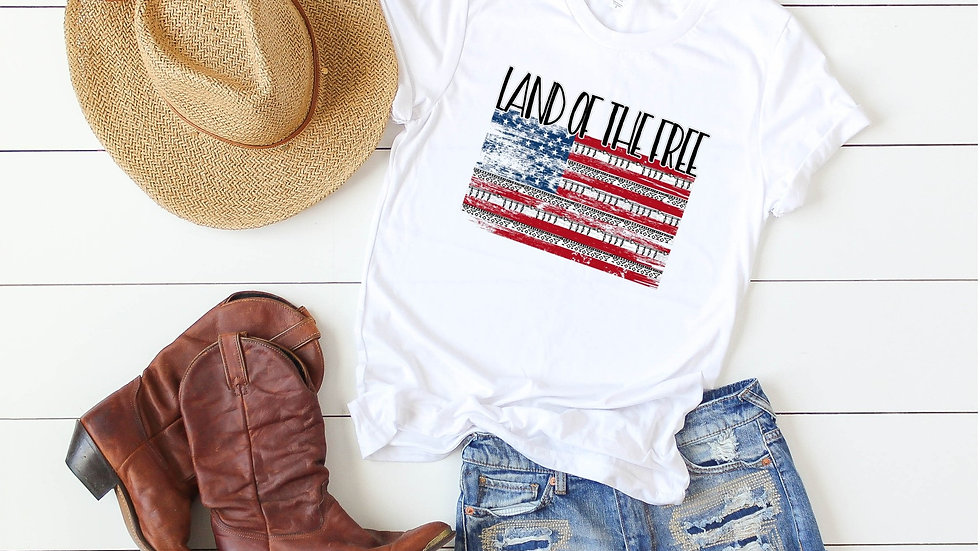 Land of the Free Flag Tee