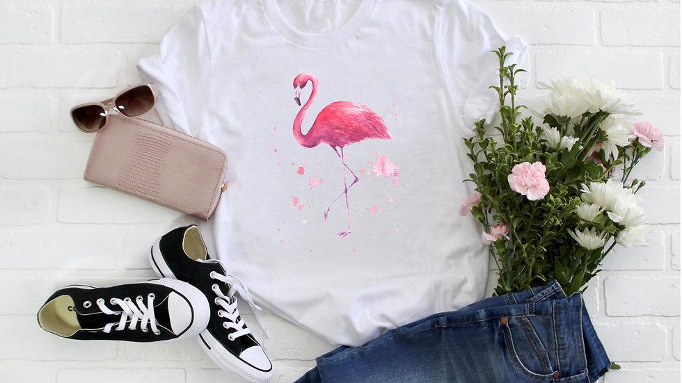 Watercolor Flamingo Tee