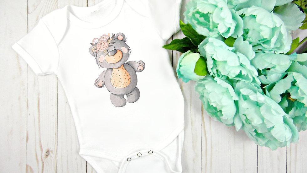 Woodland Baby Bear 2 Baby Bodysuit