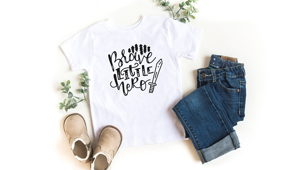 Brave Little Hero Toddler and Youth Tee
