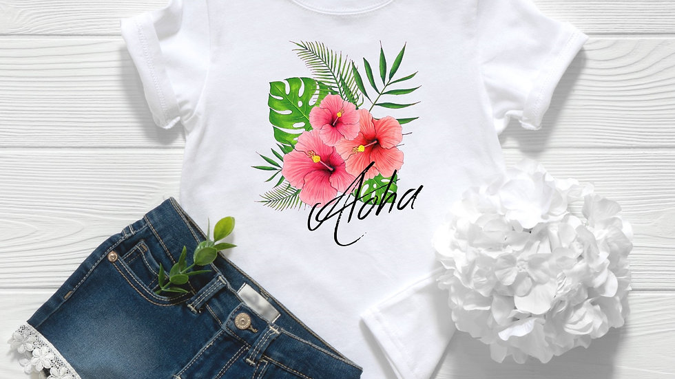 Aloha Hibiscus Toddler and Youth Tee