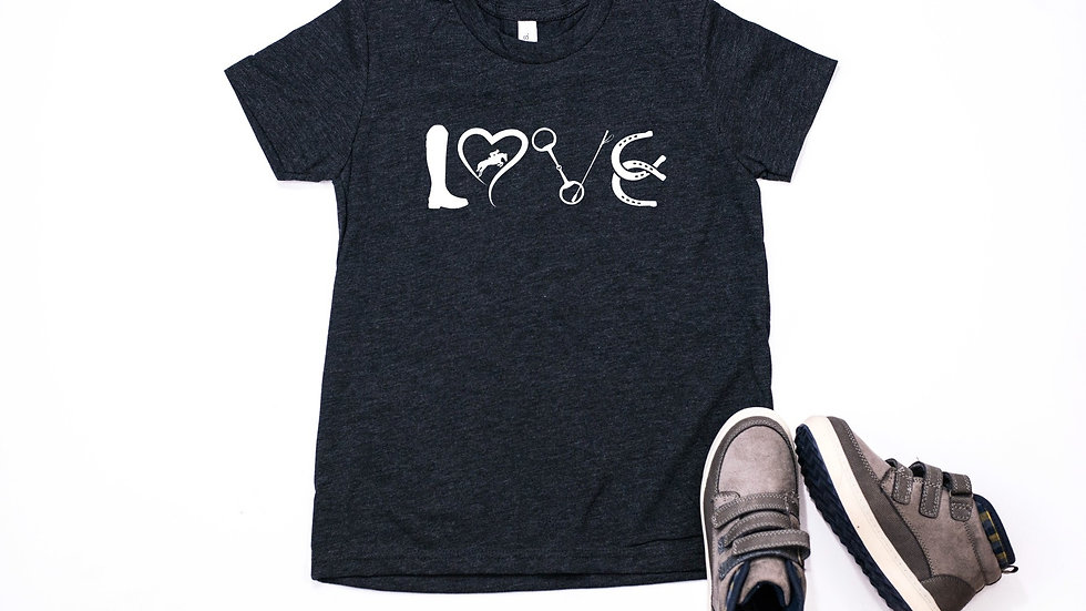 Equestrian Horse Love Toddler and Youth Tee