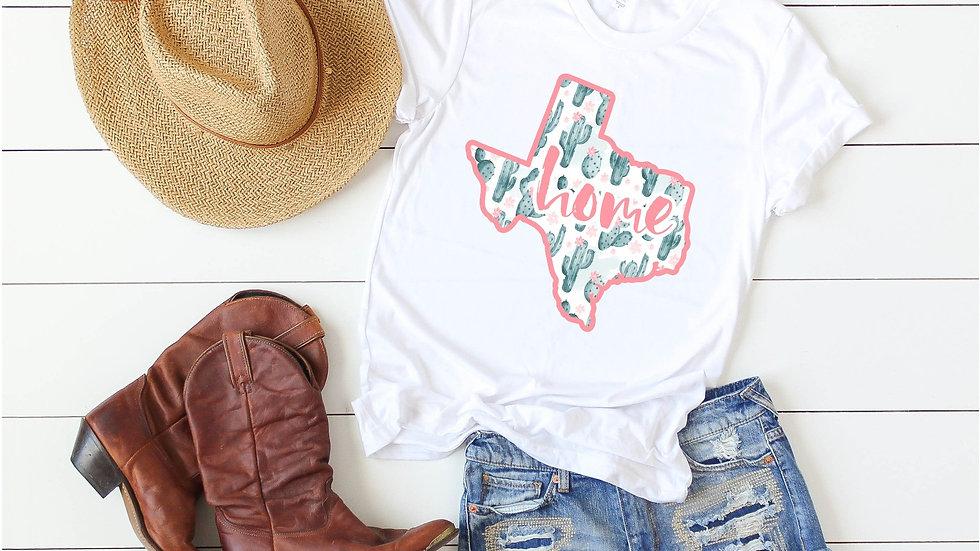 Texas Home Cactus Tee