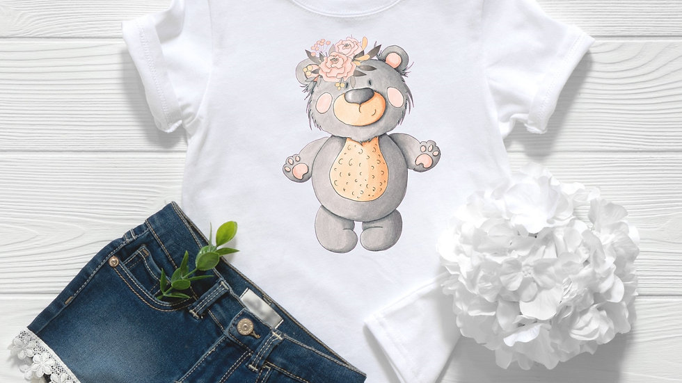Woodland Baby Bear 2 Toddler and Youth Tee