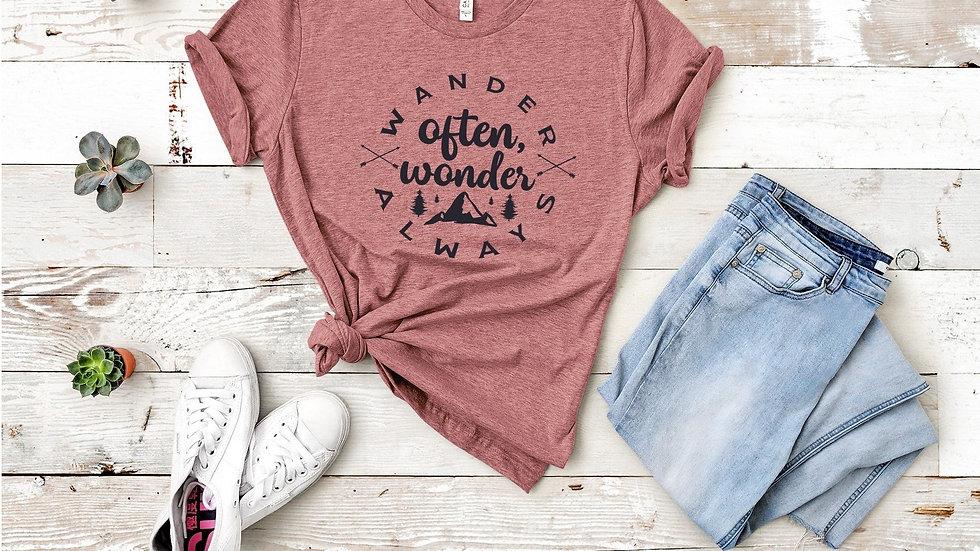 Wander Often Wonder Always Tee