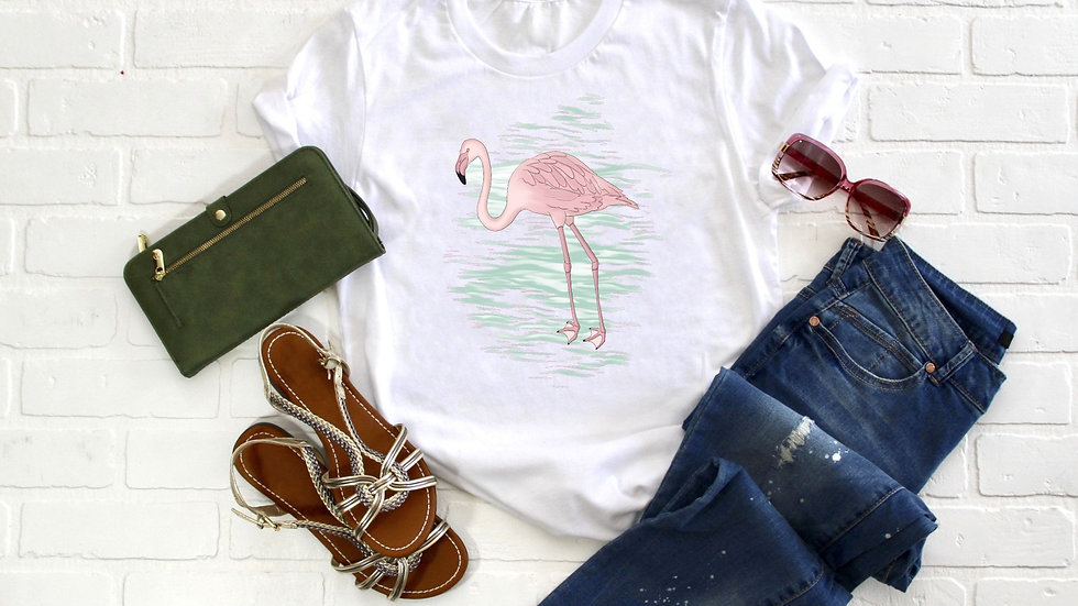 Watercolor FlamingoTee