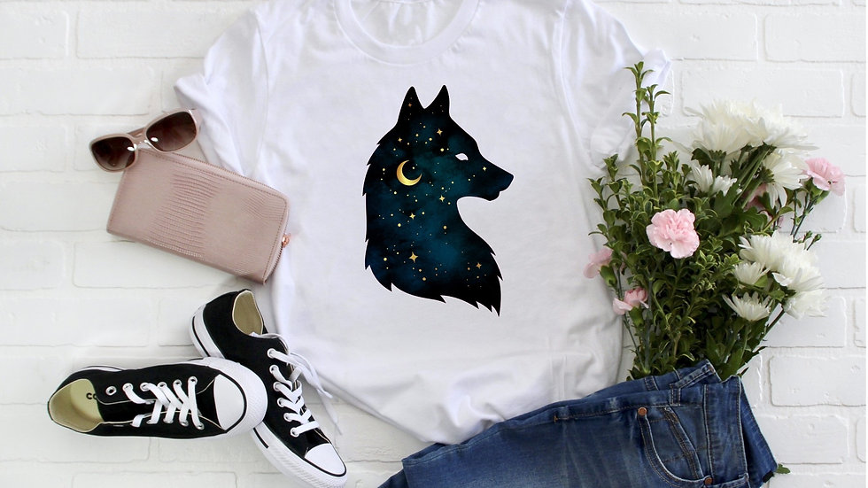Starry Night Wolf Tee