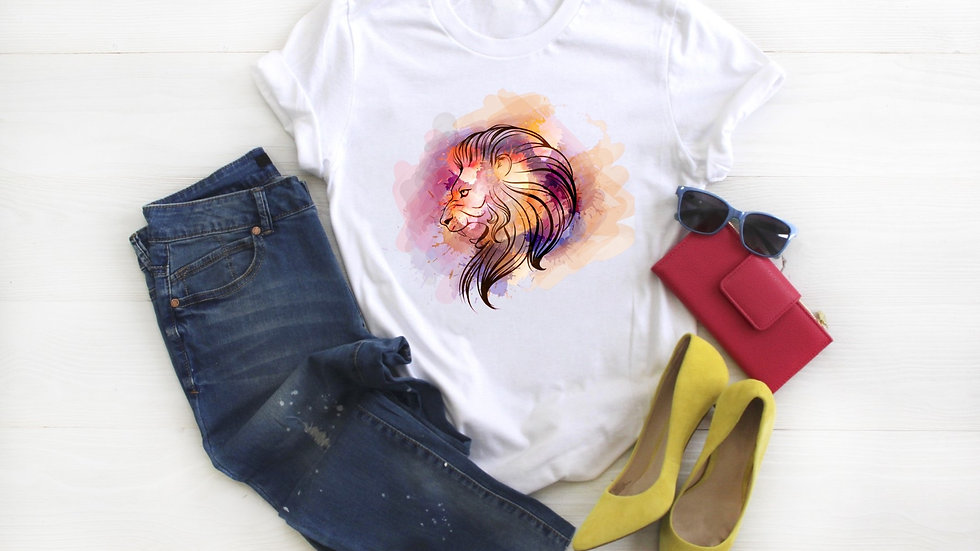 Watercolor Lion Tee