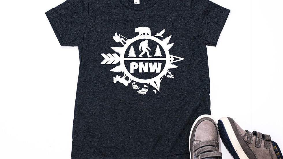 PNW Bigfoot Baby, Toddler, and Youth Tee