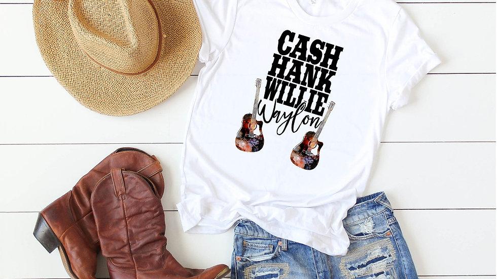 Cash Hank Willie Waylon Tee
