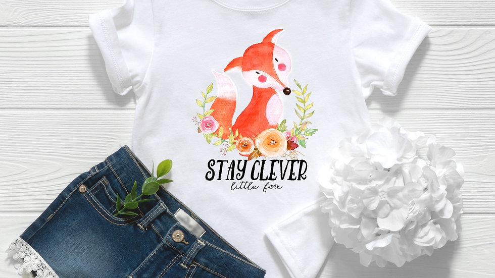 Woodland Stay Clever Little Fox Toddler and Youth Tee