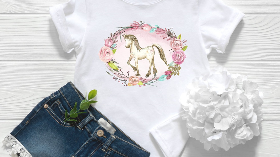 Floral Pony 2 Toddler and Youth Tee