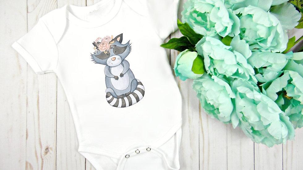 Woodland Baby Raccoon Baby Bodysuit