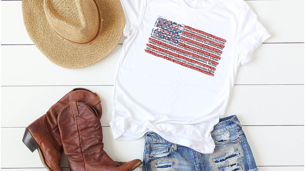 Declaration of Independence Flag Tee