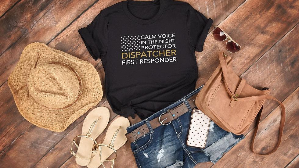 Thin Gold Line Dispatcher Tee