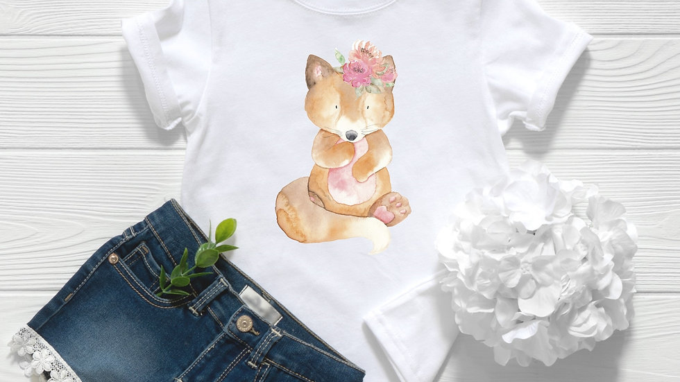 Woodland Baby Fox Toddler and Youth Tee