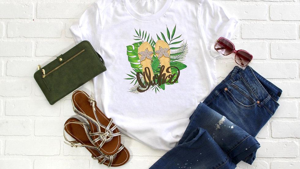 Aloha Sandals Tee
