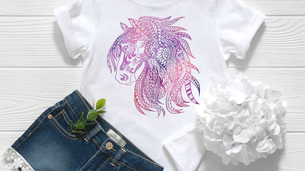 Zentangle Horse Style 2 Toddler & Youth Tee