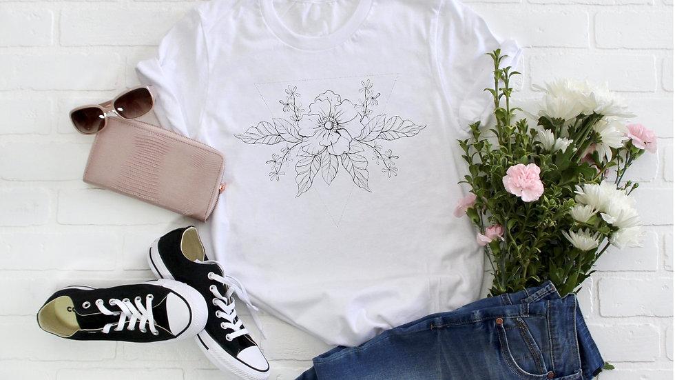 Geometric Flower Tee