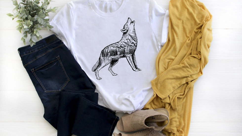 Howling Wolf Sketch Tee