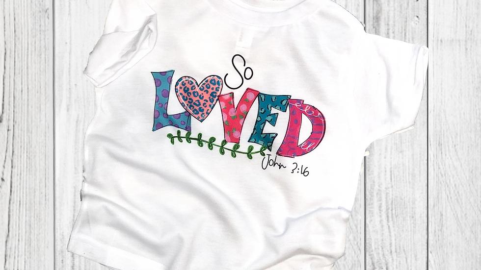 So Loved - John 3:16 Toddler & Youth Tee