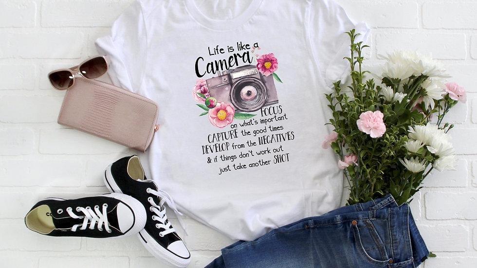 Life is Like a Camera Tee