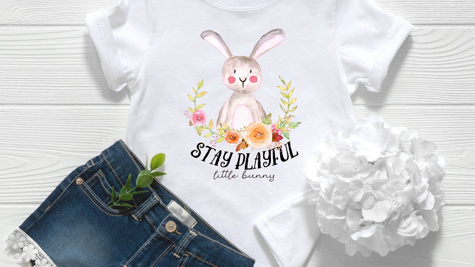 Woodland Stay Playful Little Bunny Toddler and Youth Tee