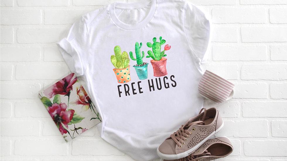 Free Hugs Cactus Tee