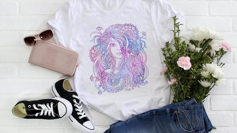 Zentangle Girl Tee - Multicolor