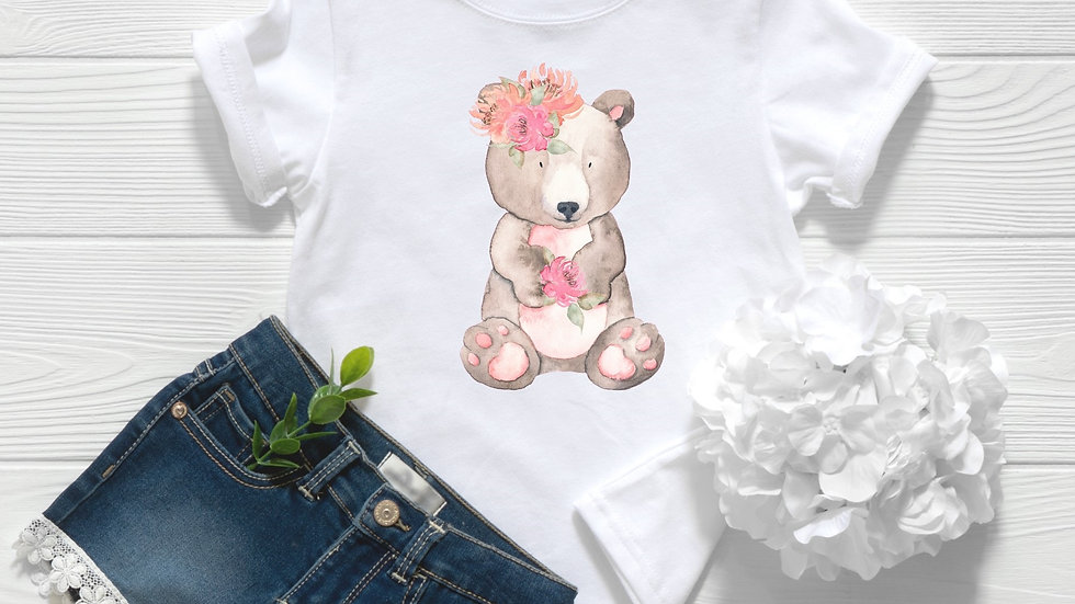 Woodland Baby Bear Toddler and Youth Tee