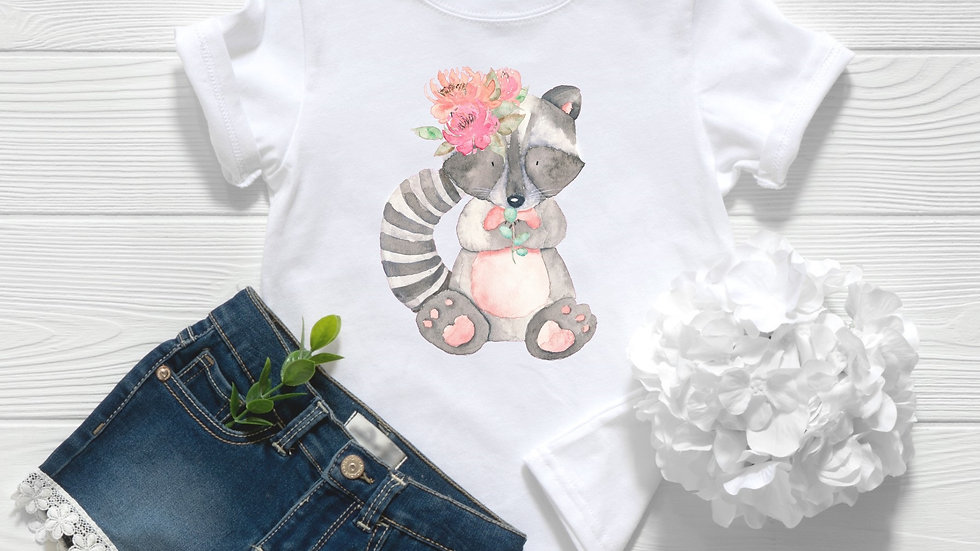 Woodland Baby Raccoon 2 Toddler and Youth Tee