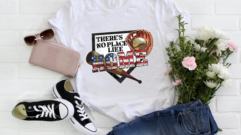 There's No Place Like Home Baseball Tee