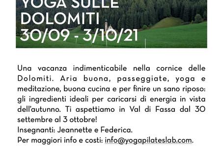 Yoga sulle Dolomiti 30/09 - 3/10/21