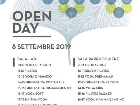Open day 8 settembre 2019
