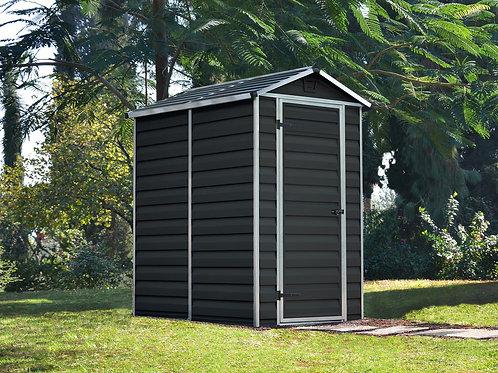 מחסן קטן לגינה Skylight, אפור מידנייט- 1.2x1.8 מטר